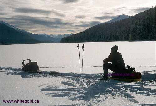 A contemplative moment on remote Isaac Lake, Bowron Lake Chain